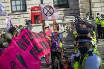 02-09-2020 - Extinction Rebellion protest blocking road to stop the Prime Minister attending PMQs, Parliament Square, London © Jess Hurd