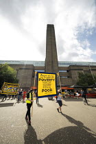 12-09-2020 - Day 24 of the Tate strike to Protect Art and Culture Jobs, We Won���t Pay for the Crisis protest from Tate Modern to Parliament Square, London © Jess Hurd