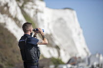 21-09-2020 - Dover UK Border Force looking for migrants arriving by boat from France, Home Office Immigration Enforcement, St Margaret's Bay, Dover. © Jess Hurd