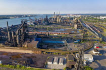 09-08-2020 - River Rouge United States Steel Zug Island Great Lakes Works which is now being closed © Jim West