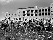 30-03-1984 - Birzeit University, West Bank, Land Day 1984. Planting trees to commemorate the 1976 shooting to death of six Palestinians, marking an important date in the Palestinian struggle against the Israeli oc... © Melanie Friend