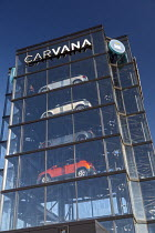 18-11-2020 - Detroit, USA. Carvana car vending machine. Customers can buy a used car online and can pick up them up at a car vending machine © Jim West
