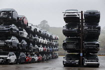 28-11-2020 - Car scrapyard, Daventry, Northamptonshire. Vehicles damaged in accidents are recycled for parts © John Harris