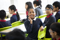 27-11-2020 - Pupils in class, Lansbury Lawrence Primary School during Covid pandemic lockdown, Poplar, East London. © Jess Hurd