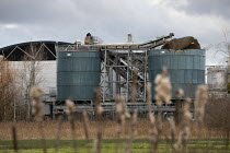 05-12-2020 - Avonmouth explosion killed four workers. Damaged silo, Wessex Water Treatment plant near Bristol. A chemical tank that treated biosolids exploded killing four including a teenager who were working ont... © Paul Box
