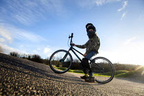 05-12-2020 - Autistic boy riding Lawrence Weston BMX track, Bristol © Paul Box