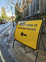 20-12-2020 - NHS Covid 19 Vaccination Service sign. Clifton, Bristol © Paul Box