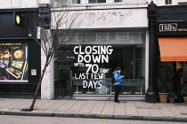 09-12-2020 - Closed Subway sandwich shop, Putney High Street, London. Closing Down Last Few Days © Duncan Phillips