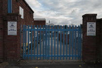 04-01-2021 - Closed primary school, Birmingham. Closed gates of Brookfield Primary School, Hockley, unable to open due to staffing issues and safety concerns. © John Harris