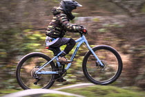 03-01-2021 - 8 year old autistic boy rideing his bike, Bristol © Paul Box