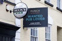 06-01-2021 - Pub up Lease, Hotwells, Bristol. Punch, Wanted Pub Lover sign. Punch Pubs & Co is a pub and bar operator in the United Kingdom, with around 1,300 leased pubs © Paul Box