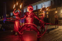 12-10-2020 - We Are Events Demo, Bristol, red lights, Coronavirus closed entertainment industry. 200 festival organisers, event suppliers, promoters, performers, venues, conference organisers and many more parts o... © Paul Box