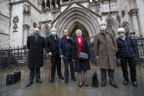 03-02-2021 - Shrewsbury 24 appeal hearing, legal team and pickets, Royal Courts of Justice, London. Shrewsbury 24 appeal hearing, legal team and pickets, Royal Courts of Justice, London. (L to R) Mark Turnbull, Te... © Jess Hurd