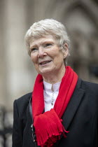 03-02-2021 - Eileen Turnbull, Shrewsbury 24 Campaign, appeal hearing, Royal Courts of Justice, London © Jess Hurd