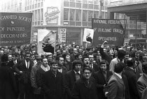 08-12-1970 - National strike against the 1971 Industrial Relations Bill, Liverpool 1970. ASPD and NFBTO banners © NLA