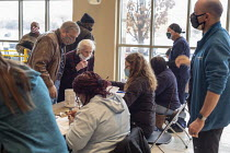 27-02-2021 - Detroit, USA: Patients checking in, Detroit Health Department weekend community clinic for vaccination against the coronavirus © Jim West