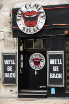 03-03-2021 - The Comedy Store, We'll be back sign during Covid pandemic lockdown, Central London. Hoping for reopening © Jess Hurd