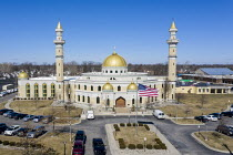 05-03-2021 - Dearborn, Michigan, USA: The Islamic Center of America, the largest mosque in North America. It serves the large Shia Arab population in Dearborn, which consists largely of immigrants from Iraq and Le... © Jim West