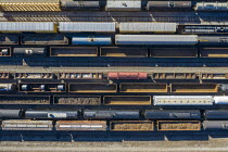 13-03-2021 - USA, Detroit Rail Yard. Railroad cars at a rail yard in southwest Detroit © Jim West