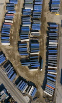 13-03-2021 - USA Detroit, CSX Intermodal Terminal. Shipping containers being transferred between trucks and trains © Jim West