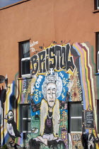 16-03-2021 - Mural of the Queen meditating, Bristol © Paul Box