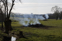 17-03-2021 - Felled trees being burnt, Tredington, Warwickshire © John Harris