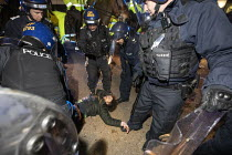 21-03-2021 - Policing protest against the Police Bill, Bristol. Man on the floor under arrest © Paul Box