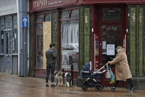 19-03-2021 - Women, pram and dogs, Town Centre, Banbury © John Harris