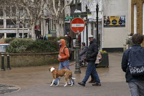 19-03-2021 - Homeless men and dog, Banbury Town centre © John Harris