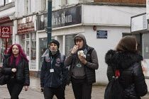 19-03-2021 - Students, Banbury Town centre © John Harris
