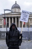01-05-2021 - The Grim Reaper, May Day Kill the Bill protest, London © Jess Hurd