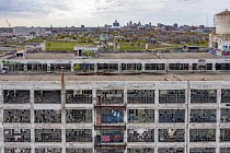26-04-2021 - Detroit, USA: derelict GM Fisher Body auto plant. Albert Kahn designed Fisher Body Plant 21, Piquette Street, Piquette Avenue Industrial Historic District. The factory opened in 1919, operated until 1... © Jim West